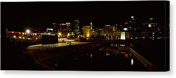City Lit Up At Night, Cape Town Canvas Print by Panoramic Images