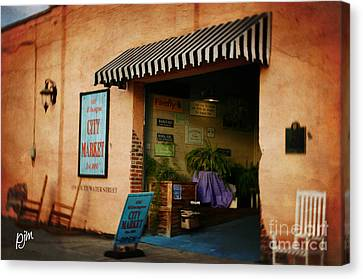 Canvas Print featuring the photograph City Market by Phil Mancuso