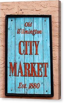 City Market Sign Canvas Print by Cynthia Guinn