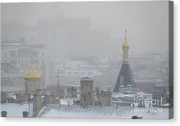 City Mist 1 Canvas Print by Anna Yurasovsky