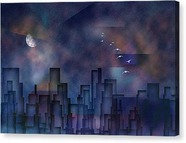 City Night Canvas Print by Bruce Rolff