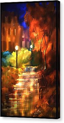City Nights Canvas Print by Steven Lebron Langston