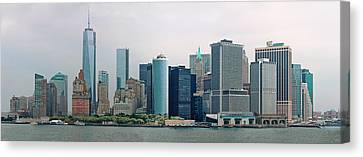 City - Ny - The Financial District Canvas Print by Mike Savad