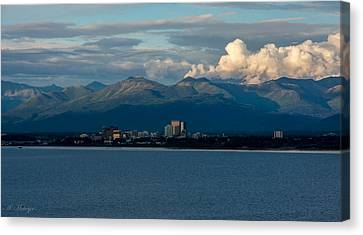 City Of Anchorage  Canvas Print