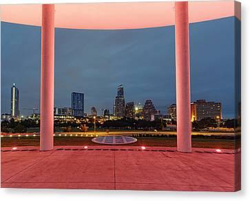 City Of Austin Framed Canvas Print