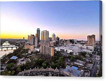 City Of Austin Texas Canvas Print by Kristina Deane