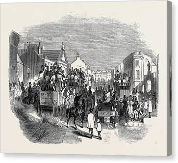 Cork Canvas Print - City Of Cork, Scene On The Day Of The Oconnell Dinner by English School