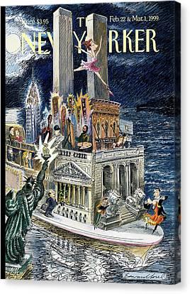 Stock Exchange Canvas Print - City Of Dreams by Edward Sorel
