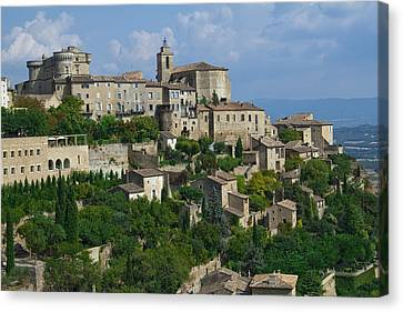 South Of France Canvas Print - City Of Gordes by Karma Boyer