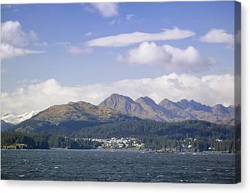City Of Kodiak On Monashka Bay Kodiak Canvas Print