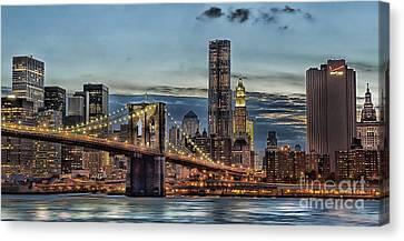City Of Lights Canvas Print by Arnie Goldstein