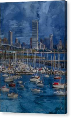 Alt Canvas Print - City Of Milwaukee Along Lake Michigan by Jack Zulli