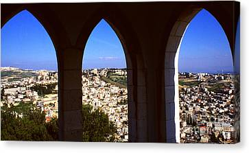 City Of Nazareth Canvas Print by Thomas R Fletcher