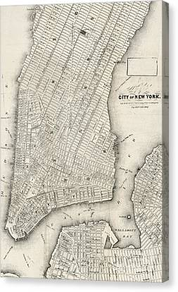 City Of New York Circ 1860 Canvas Print
