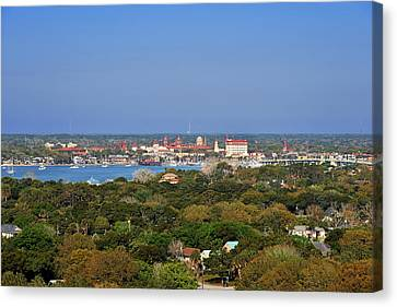 Cathedral Canvas Print - City Of St Augustine Florida by Christine Till