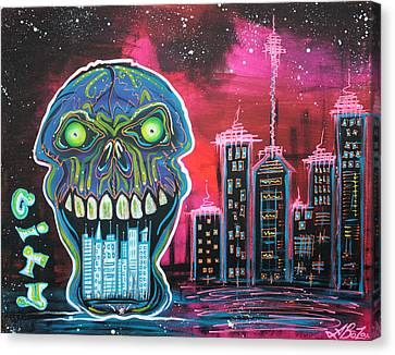City Of Strange Canvas Print by Laura Barbosa
