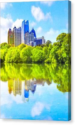 City Of Tomorrow - Atlanta Midtown Skyline Canvas Print