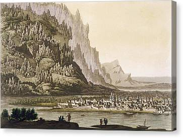 Mountains Canvas Print - City Of Yakutsk On The River Lena by Italian School