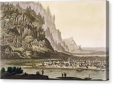 City Of Yakutsk On The River Lena Canvas Print