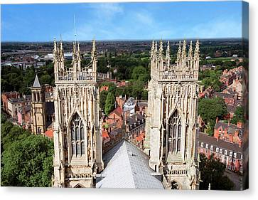 Medieval Temple Canvas Print - City Of York, York Minster, Cathedral by Miva Stock