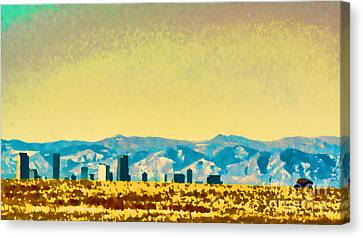 City On The Plains Canvas Print by Catherine Fenner
