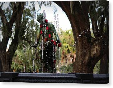 City Park Fountain Canvas Print