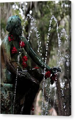City Park Fountain II Canvas Print by Beth Vincent
