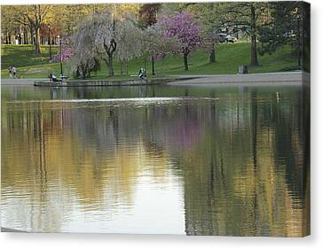 Wade Park Cleveland Ohio Springtime Canvas Print by Valerie Collins