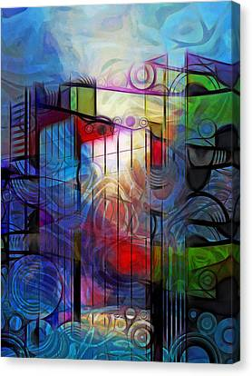 City Patterns 2 Canvas Print by Lutz Baar