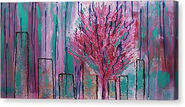 City Pear Tree Canvas Print by Nan Bilden