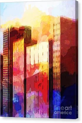 City Pop Canvas Print by Lutz Baar