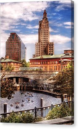 City - Providence Ri - The Skyline Canvas Print by Mike Savad