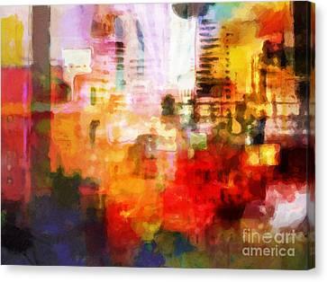 City Pulse Canvas Print