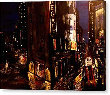 City Rain 2 Canvas Print by Mark Moore