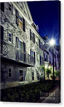 City Scene At Night Canvas Print by HD Connelly