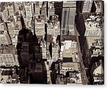 City Shadow Canvas Print by Dave Bowman