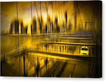 Decorative Digital Art Canvas Print - City-shapes Nyc by Melanie Viola