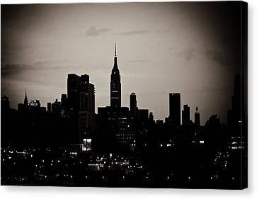 City Silhouette Canvas Print by Sara Frank