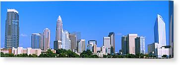 City Skyline, Charlotte, Mecklenburg Canvas Print by Panoramic Images