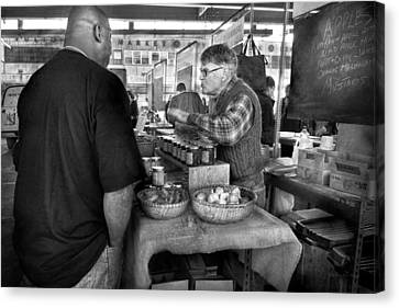 South Street Seaport Canvas Print - City - South Street Seaport - New Amsterdam Market - Apples And Mustard by Mike Savad