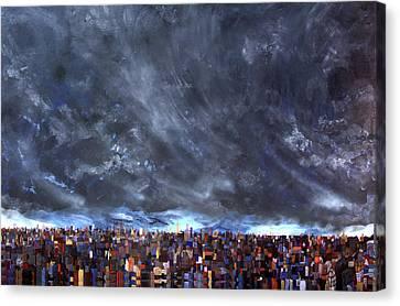 City Storm I Canvas Print by Robert Handler