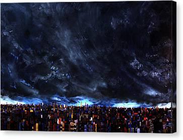 City Storm II Canvas Print