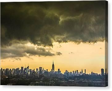 City Storm Wide Canvas Print