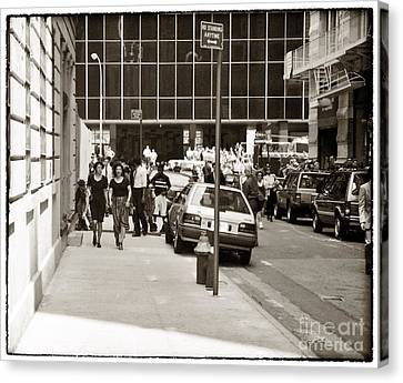 City Streets 1990s Canvas Print by John Rizzuto