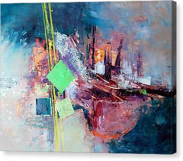 City Sunrise Canvas Print by Ron Stephens