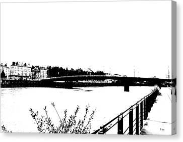 City Canvas Print by Thomas Leon
