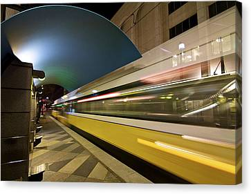 Canvas Print featuring the photograph City Transit by John Babis