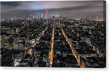 Red Roof Canvas Print - City Veins by Eduard Moldoveanu