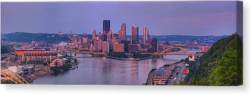 City Viewed From The West End Canvas Print