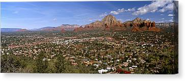 City With Rock Formations Canvas Print by Panoramic Images